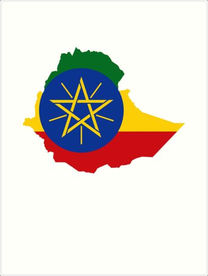 Map Of Africa Art.Ethiopia Map Flag Ethiopian Ethiopia Africa Art Prints By