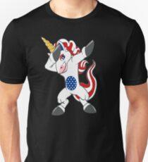 Patriotisches abtuckendes Einhorn am 4. Juli Hemd und Geschenke; Unabhängigkeitstag Geschenke Slim Fit T-Shirt