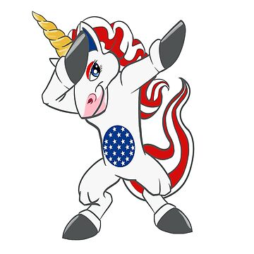 Patriotic Dabbing Unicorn July 4th Shirt and Gifts; Independence Day Gifts by chuckletees