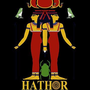 Ancient Egyptian Mythology Goddess Hathor T Shirt by Rahimseven