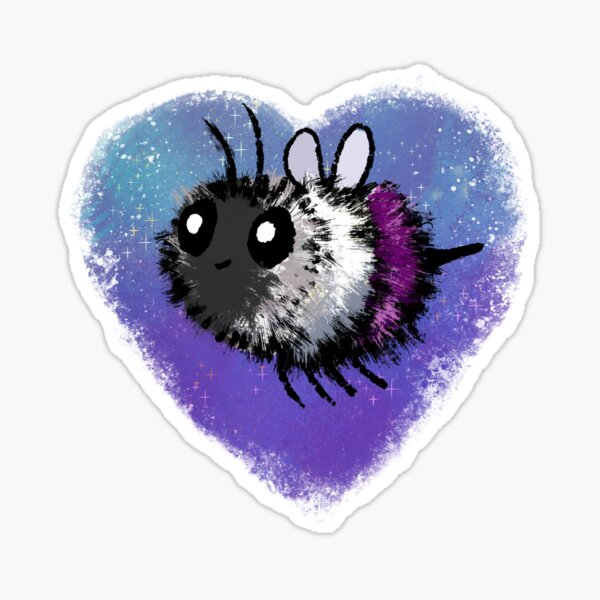 Pride Bees - Ace Sticker