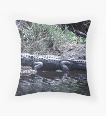 Gator at St Marks  Throw Pillow
