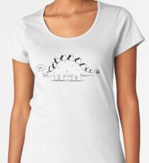 Cartoon Stegosaurus Women's Premium T-Shirt