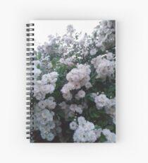 White flowers Spiral Notebook