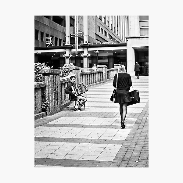 Shopping Begging Photographic Print