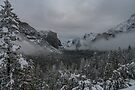 Yosemite Valley Early Morning Clearing Storm by photosbyflood