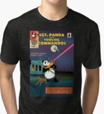 Sgt. Panda and His Yowling Commandos - Unrated Tri-blend T-Shirt
