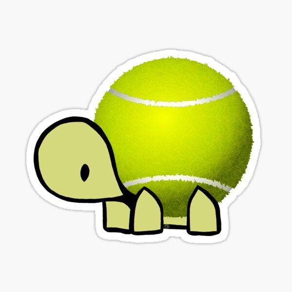 Tennis turtle Sticker