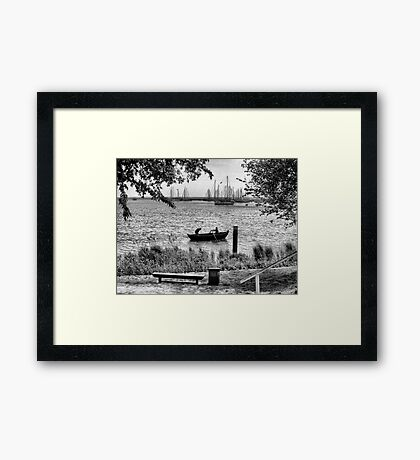 Row, row, row, your Boat Framed Print
