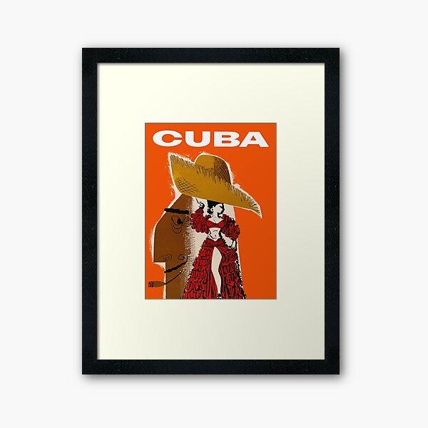 Vintage Cuban Cigar Travel Poster Framed Art Print