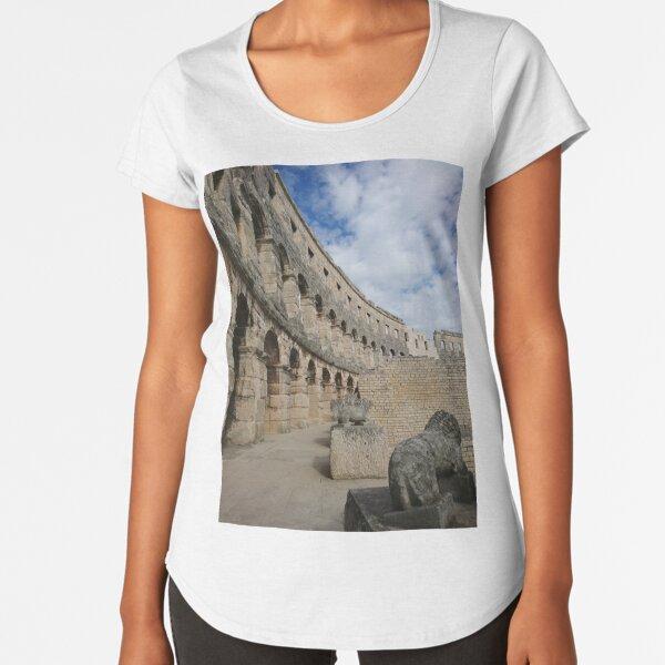 Pula Amphitheatre, Croatia Premium Scoop T-Shirt