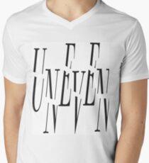 Uneven Men's V-Neck T-Shirt