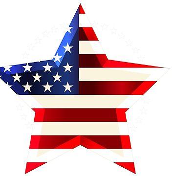 American Flag  by Belghazi