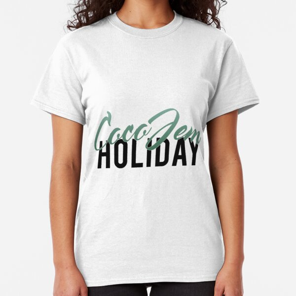 Coco Jem Holiday - Name Design - Teal Classic T-Shirt