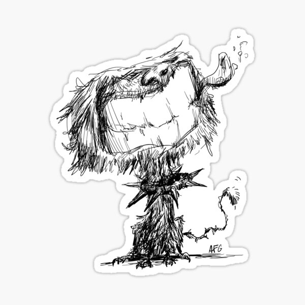 Scruffy Dog Sticker