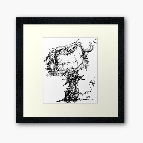 Scruffy Dog Framed Art Print