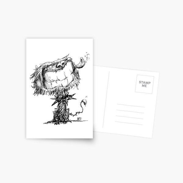 Scruffy Dog Postcard