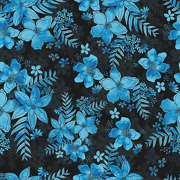 Blue Floral  by hayleylauren