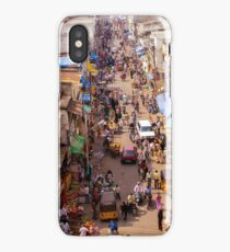 Busy market street iPhone Case