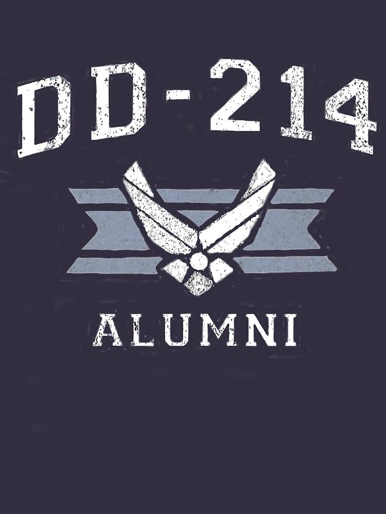 USAF DD 214 Alumni T Shirt Retired Insignia by thehadgaddad