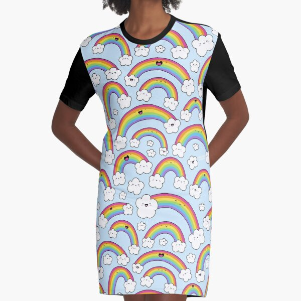 Rainbows Everywhere!  Graphic T-Shirt Dress