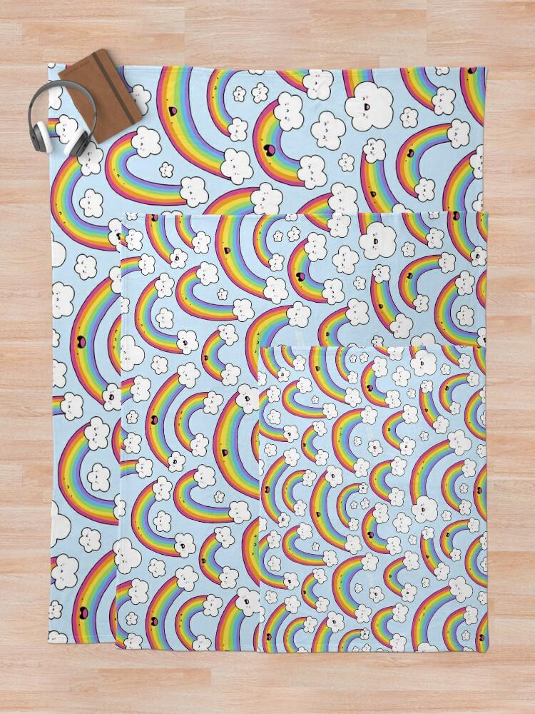 Alternate view of Rainbows Everywhere!  Throw Blanket