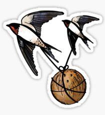 European or African Swallow? Sticker