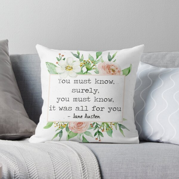 All For You Throw Pillow