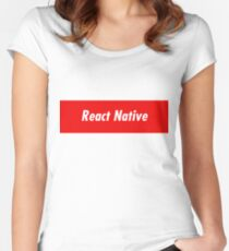 React Native Developer - Programming Stickers and Items Women's Fitted Scoop T-Shirt