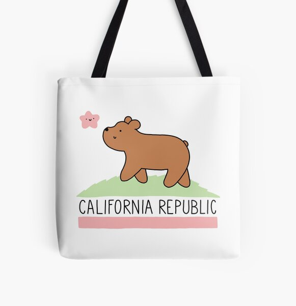 Kawaii California Republic All Over Print Tote Bag
