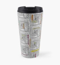 Log Cabin Pattern Travel Mug