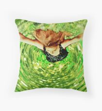 Nigthmare of the Bottomless Pool Throw Pillow