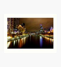 Southbank view from Princess Bridge Art Print