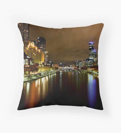 Southbank view from Princess Bridge Throw Pillow
