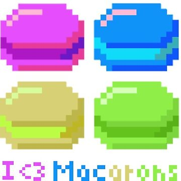 I Heart Macarons by beerhamster