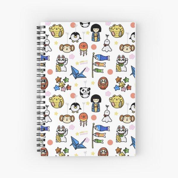 Lucky Japan Doodle  Spiral Notebook