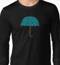 Portland PDX Flughafen Teppich Regenschirm Langarmshirt
