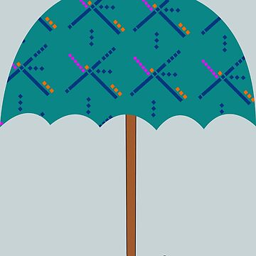 Portland PDX Airport Carpet Umbrella by beerhamster
