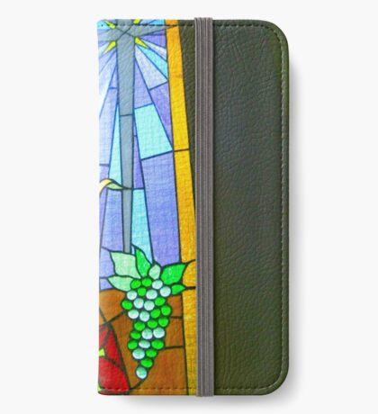 Buntglas-Fenster iPhone Flip-Case