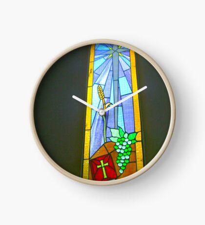 Buntglas-Fenster Uhr
