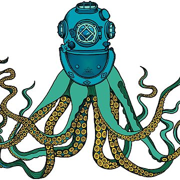 Retro Octopus by K80designs by azurepro