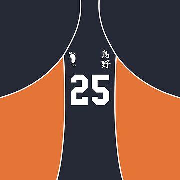 Karasuno #25 Jersey by Aloyssia