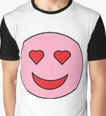 Sweet Happy Emoji Graphic T-Shirt