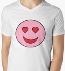 Sweet Happy Emoji Men's V-Neck T-Shirt