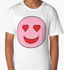 Sweet Happy Emoji Long T-Shirt