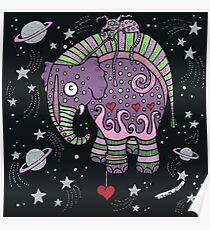 Interstellar Elephant Tee Poster