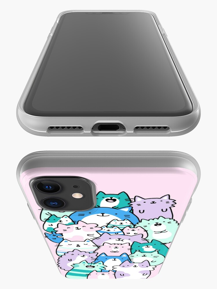 Alternate view of Pastel Pile Of Cats iPhone Case & Cover