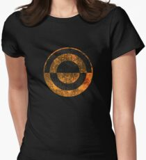 Crimson Dawn - Distressed Women's Fitted T-Shirt