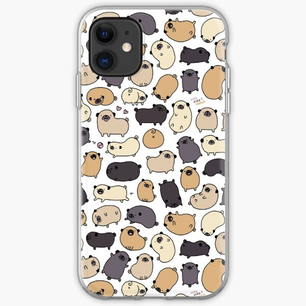 Pug Life Doodle iPhone Soft Case