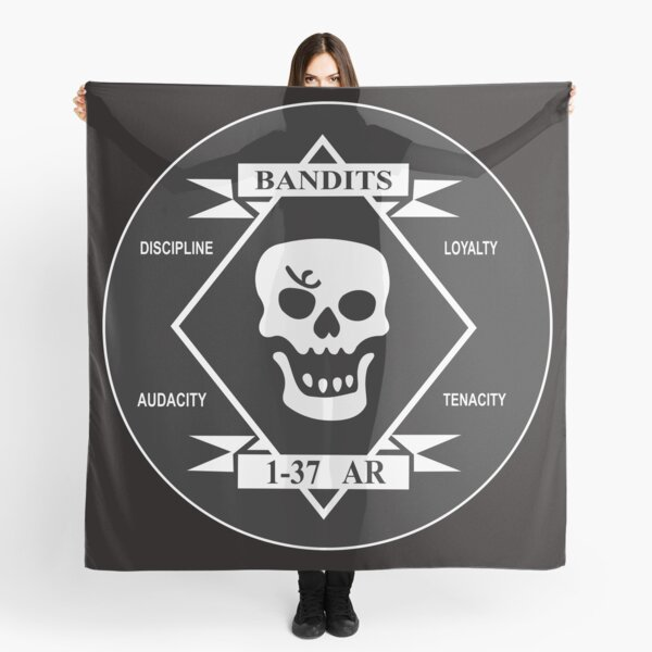 The Bandits - 1st Battalion - 37th Armor Regiment (Clean Style)  Scarf